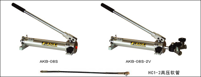 (5)cj2-50鹰牌分离式液压千斤顶配套手动液压泵和高压软管,可实现远图片