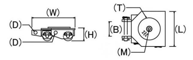 UWR鹰牌转向搬运小坦克结构尺寸图片
